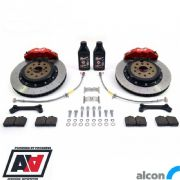 RCM / ALCON 4 Pot Rear Brake Kit Red 343mm RCM2938